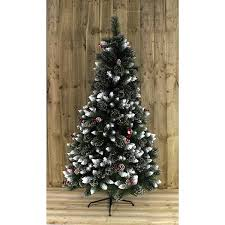 snow tipped tree with pine cones and berries 150cm 427690