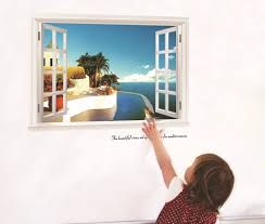 new design creative fashion false windows mediterranean style home