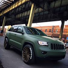 green jeep grand cherokee 2013 laredo wk2 matte army green build jeepforum com