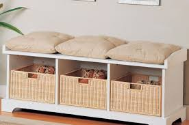 bench indoor benches with storage wicker storage bench with