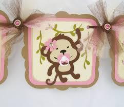 monkey baby shower theme monkey girl baby shower theme 9155