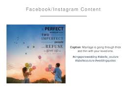 marriage caption la couture social media marketing plan 2016