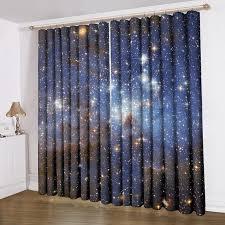 anoleu beautiful galaxy window curtains extra wide window curtains