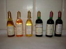 miniature wine bottle ornaments