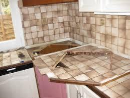 recouvrir carrelage plan de travail cuisine plan de travail cuisine en carrelage recouvrir peindre carrele