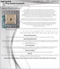 mirror light switch surround finger plate decorative free uk
