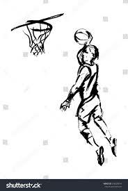 hand sketch basketball vector illustration stock vector 216020674