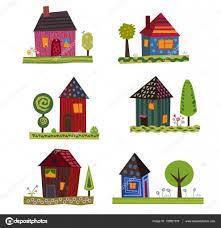 cute little house cute little houses u2014 stock vector medvedka 138821678