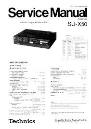 technics sux50 service manual immediate download