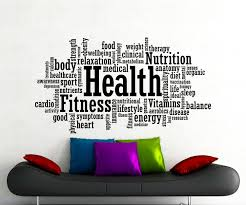 health fitness motivation word cloud wall sticker gym sports zoom