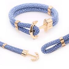 cord rope bracelet images 10pcs plated rhodium rose gold anchor sighn hook clasp findings jpg