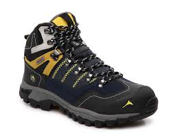 pacific mountain ascend hiking boot navy yellow black men