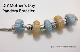 pandora bracelet with beads images Diy mother 39 s day pandora bracelet with your own customized beads jpg