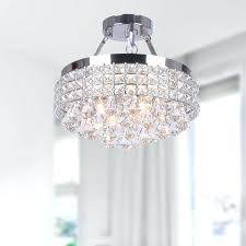 Crystal Flush Mount Ceiling Light Fixture by 5 Light Crystal Flush Mount Ceiling Light Fine Art Lamps Crystal