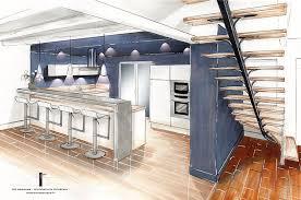 escalier entre cuisine et salon renovation escalier bois interieur fabulous devis personnalis