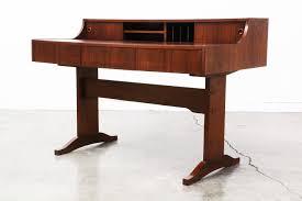 Modern Walnut Desk Mid Century Modern Walnut Writing Desk Vintage Supply Store