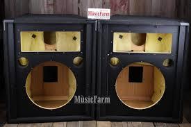 empty plastic speaker cabinets jbl sr4725 pair 15 inch empty speaker cabinets 2 loudspeaker reverb