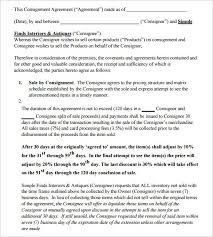 consignment contract template forms 11 best consignment images on