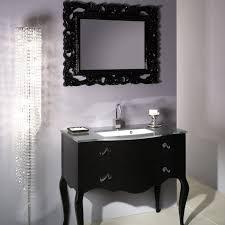 modern black wooden bathroom vanities using gray marble countertop