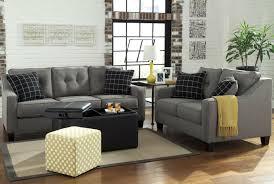 Charcoal Living Room Furniture Brindon Grey Fabric Sofa Bed Steal A Sofa Furniture Outlet Los