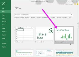 Office Excel Templates Learn How To Use The My Cashflow Template With Excel 2016 Office