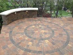 Paver Patio Kits Interlocking Paver Circle Kit Design Installed By Precision