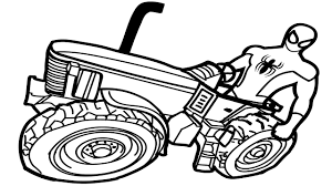 spiderman drive tractor coloring pages coloring book kids fun art