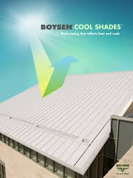 boysen cool shades is a heat reflective colored roof coating that