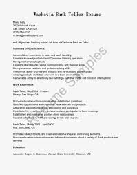 simple resume examples for jobs resume for teller job free resume example and writing download resume samples wachovia bank teller resume sample