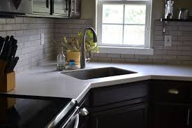 Solid Surface Kitchen Countertops Reviewing Our Lg Kitchen Countertops 6 Months In Hometalk
