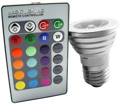 color changing light bulb with wireless remote