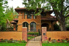 homes metal roof spanish style ranch mediterranean stucco house