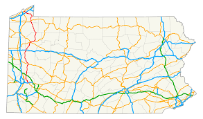 Map Of Western Pennsylvania by Pennsylvania Route 8 Wikipedia