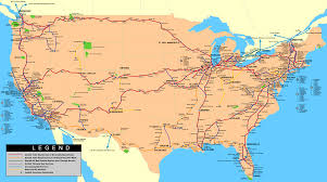 United States Canada Map by Rick U0026 Linda U0027s Travelin Partners Us Canadian Rail Travel