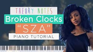 how to play sza broken clocks theory notes piano tutorial