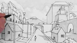 how to draw a background draw 1 point perspective youtube