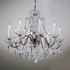 Crystal Light Fixtures Dining Room - dining room crystal bronze chandeliers hanging lights the home