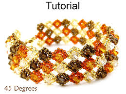 bead tutorials crystal bracelet images Beading tutorial pattern bracelet brick stitch simple bead JPG