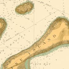 Map Of Lake Superior Print Of Apostle Islands Including The South Coast Of Lake