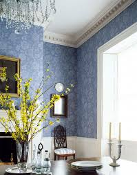 antonelli damask wallpaper in blue from the damask resource vol