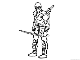ninja coloring pages with katana coloring4free coloring4free com