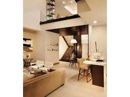 modern art high ceiling double height custom furniture colorful