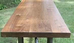 Black Walnut Table Top by Custom Black Walnut Slab Tabletop Reclaimed Salvaged American