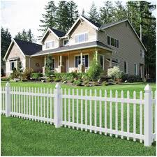 backyards bright white decorative fence in the front yard 22