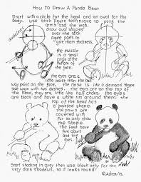 how to draw worksheets for the young artist how to draw a panda