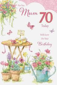 70th Birthday Cards Mum 70th Birthday Card