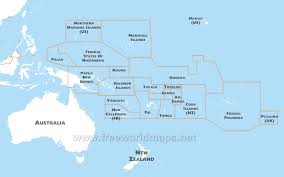 Blank Map Of World Physical by Oceania Maps U2013 Freeworldmaps Net
