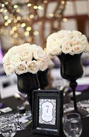 black and white wedding 46 cool black and white wedding centerpieces via happywedd