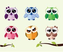 cute cartoon owls vector vector art u0026 graphics freevector com
