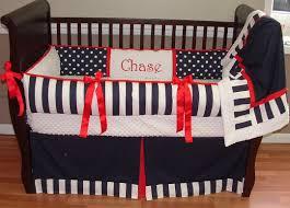 Navy Blue And White Crib Bedding Set Navy Crib Bedding This Custom 3 Pc Baby Crib Bedding Set